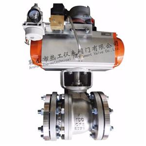 Pneumatic straight ball valve