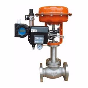 Pneumatic bellows seal double-seat cage control valve