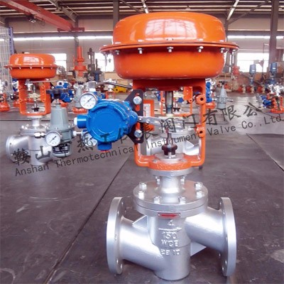 Pneumatic angle control valve
