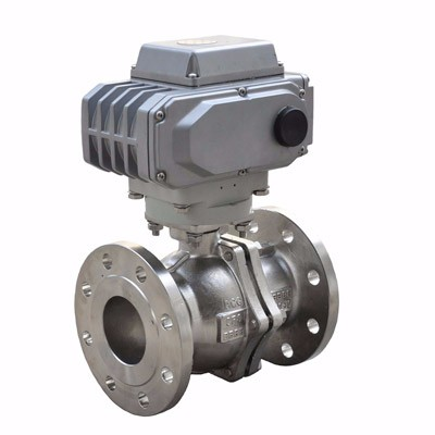 Electric cut-off ball valve