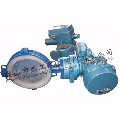 Electric fluoroplastics lining butterfly valve
