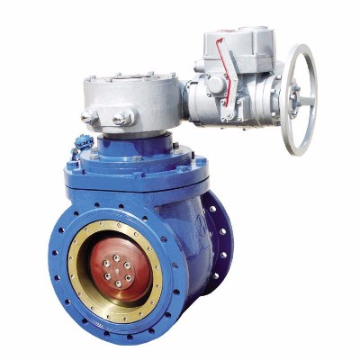 Electronic type half ball valve