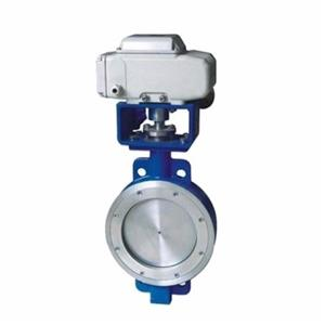 Electric double eccentric high performance seal butterfly valve