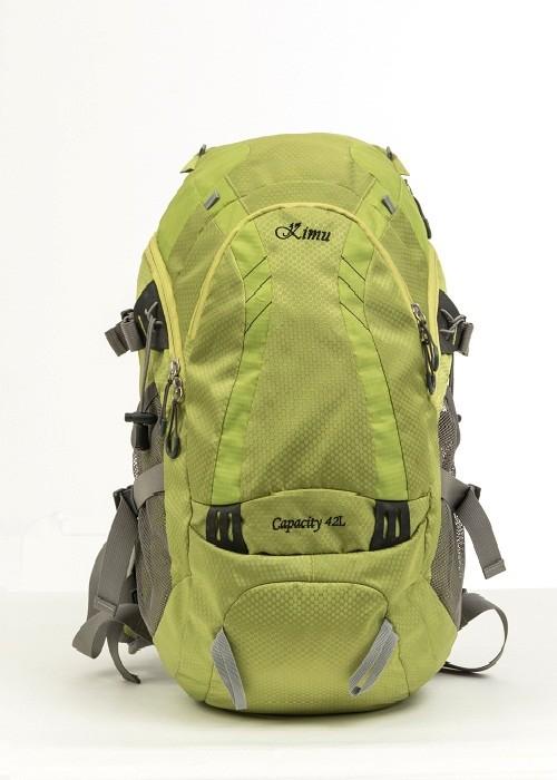 Green hiking backpack