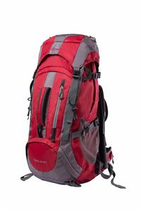 Red and gray hiking backpack