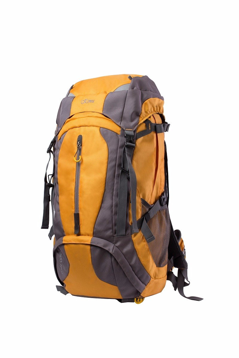 Orange and gray hiking backpack