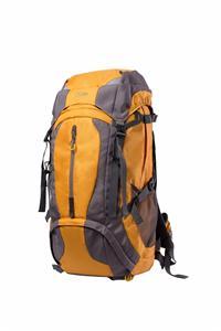 Orange and gray hiking backpack