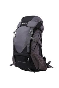 Gray and black hiking backpack