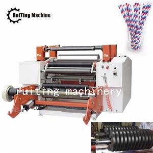 Environmentally paper straw printed roll surface slitting cutting machine