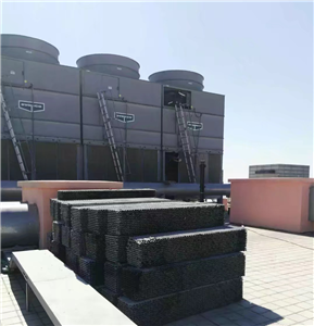Cross fluted cooling tower fill