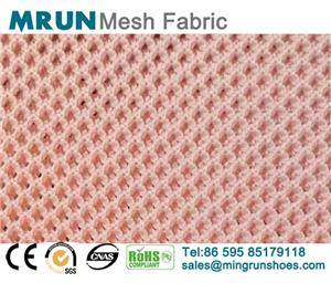 Fine Holes Polyester Flyknit Mesh Fabric