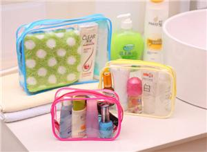 PVC bag travel travel pvc packaging wash bag transparent pvc zipper cosmetic bag