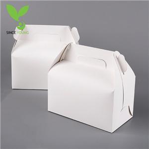 White kraft paper baking food box