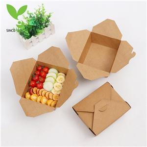 Environmental Kraft Paper Fast Food Lunch Box