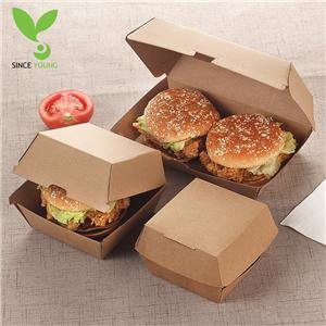 Green Kraft Burger Box