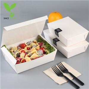 Green kraft paper snack box