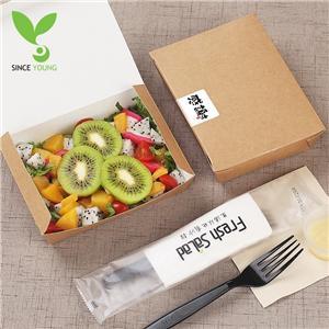 Green kraft paper bottom snack box