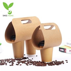 Hand-held takeaway coffee bag holder
