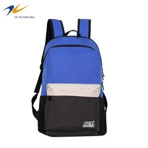 Nylon school backpack for teenager