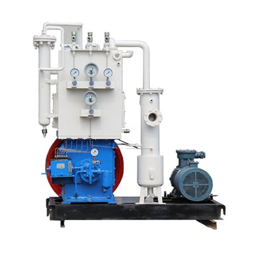 Acetylene vertical piston compressor