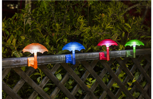 Plastic solar umbrella lights