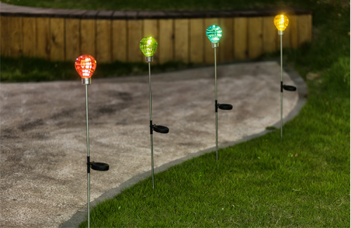 Multi-colored bulb solar light