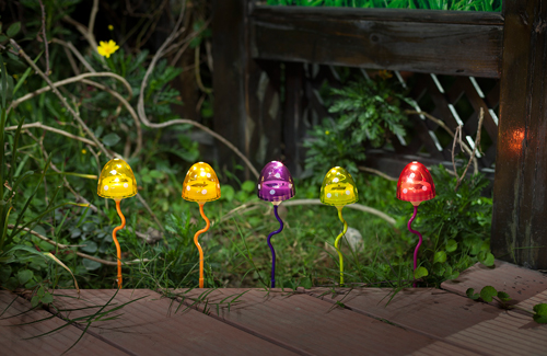 LED solar mushroom lights