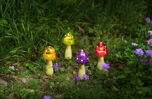mushroom solar garden lights