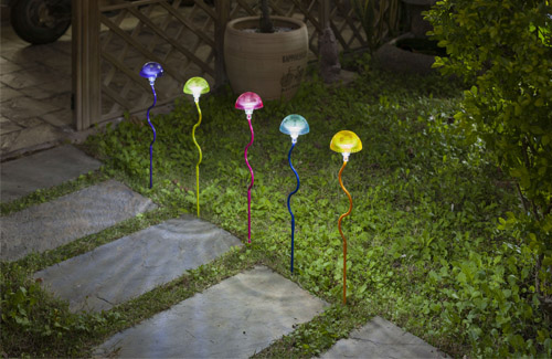Tall Solar Mushroom Lights