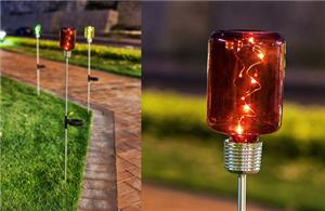 Small Cylindrical Solar Light Stake