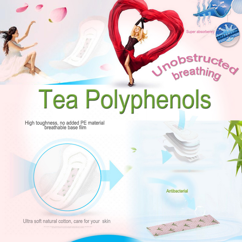 Benefits of Tea polyphenol sanitary napkin