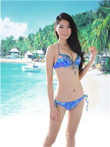 bandeau print bikini