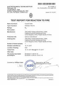 EN 50575 CPR RG179 Eca