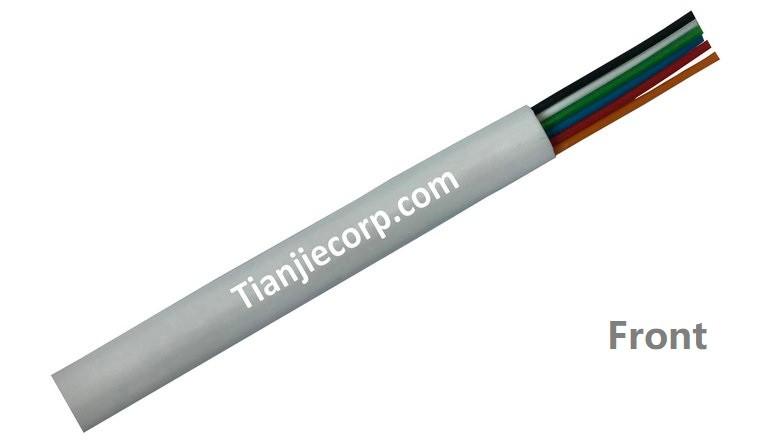 TIAN-JIE Telephone Cable D SHAPE 6C FR-PVC Jacket