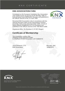 KNX Certificate of Membership