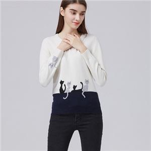 pure Cashmere intarsia Sweater