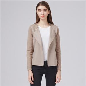 Lady's Fashion Combine Color Fox Fur Long Garment