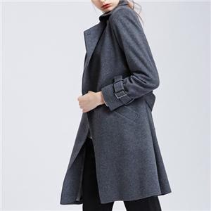 Lady's White Wool Cashmere Coat