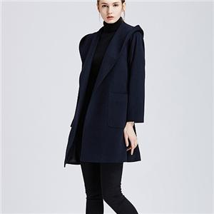 Luxury Classic Navy Blue Cashmere Coat Men