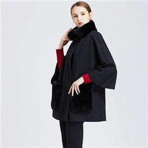 European Style Overcoat Wool Cashmere Coat For Women