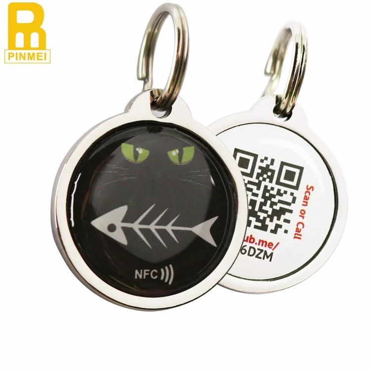 Metal Zinc Alloy NFC Dog Tags NFC Pet Tag