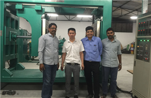 APG clamping machine and molds successfully installed in India