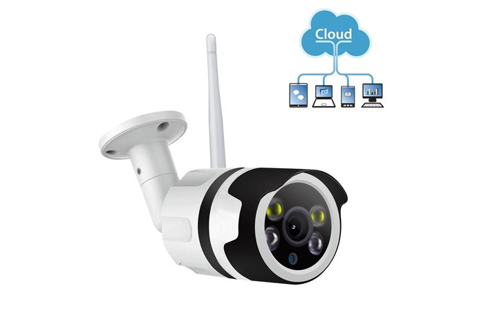 Full Color WIFI Outdoor IP Camera Dual Light Source