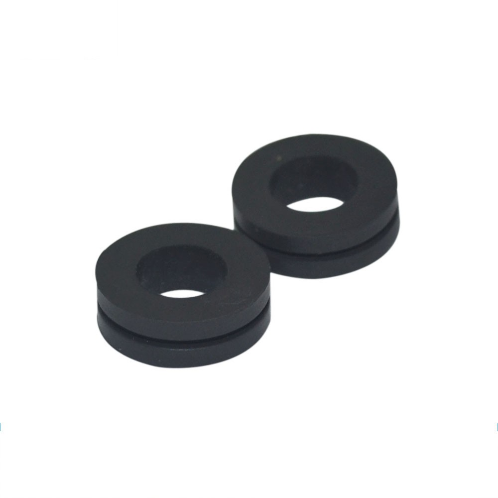 Custom molded weather and wear-resistant EPDM rubber grommet