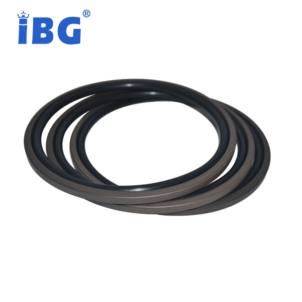 ISO/TS16949:2009 wear-resistant cylinder shaft NBR and ptfe glyd/step seals ring