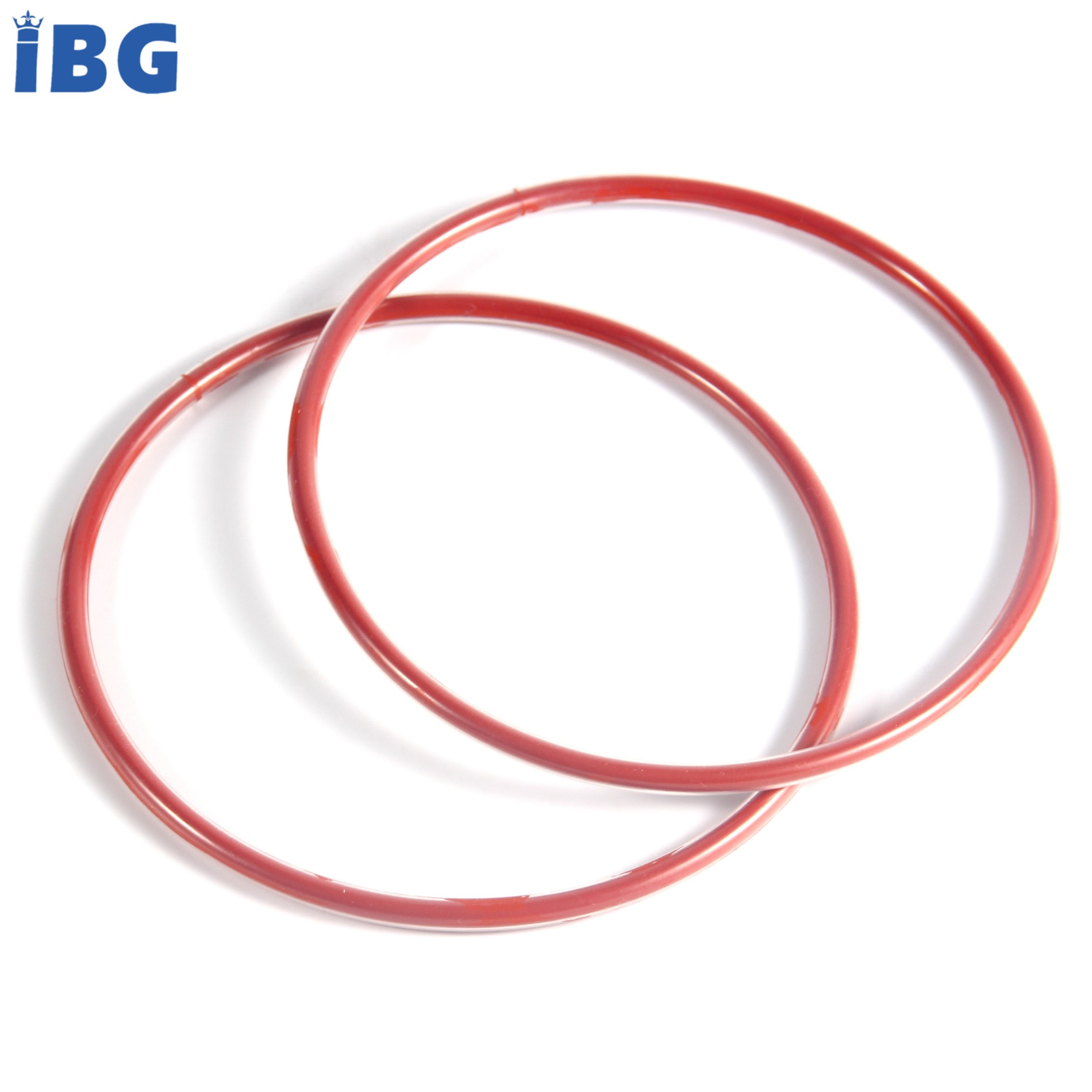 ISO9001/TS16949 Custom Moulded Corrosion-resistant Red Silicone And Teflon Coated O-rings