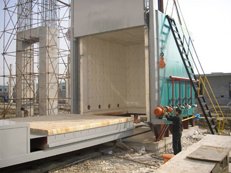 Construction site of a trolley furnace