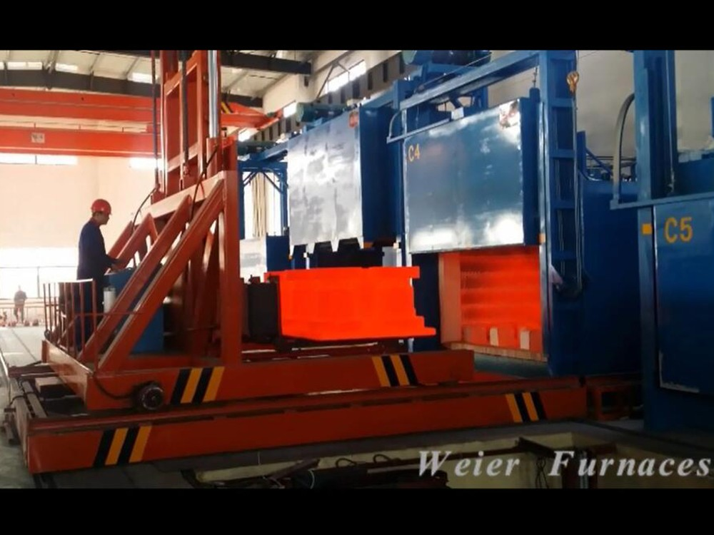 Fast quenching furnace treatment site