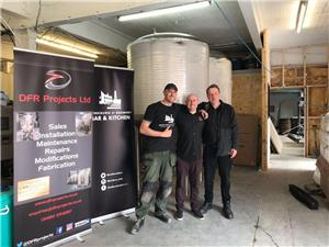 10BBL UK fermentation tanks was installed and get customer's approval