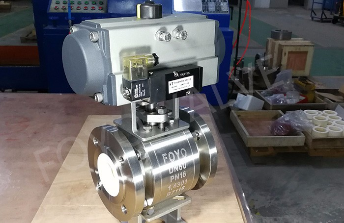 Pneumatic Ceramic Ball Valve for Blast Furnace Shop, Complex of Pulverized Coal Injection Fuel